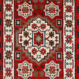 Red Kazak hand-knotted rug