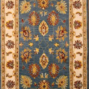 sea blue traditional area rug