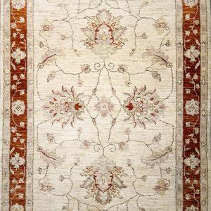 Beige traditional ziegler rug