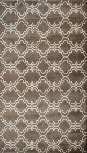 Brown contemporary rug