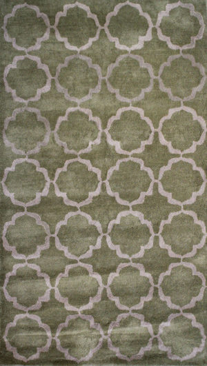 Green Contemporary Rug