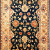 Navy blue traditional area rug