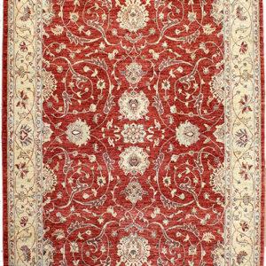 Red ziegler area rug