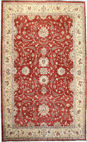 Red ziegler area rug