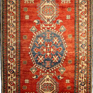 red Kazak rug