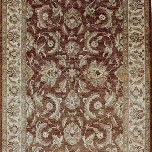 brown traditional area rug