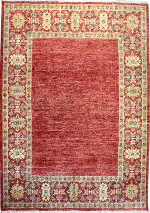 red modern area rug