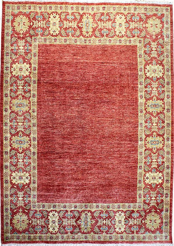 red modern area rug